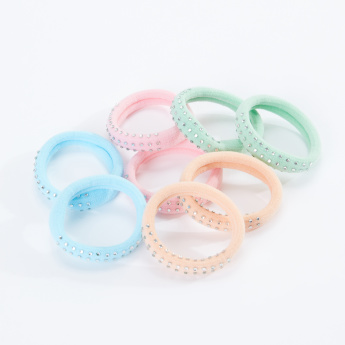 Sasha Embellished Hair Tie - Set of 8