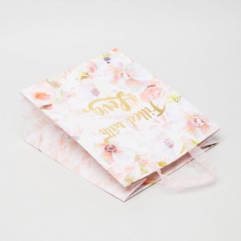 Punch Studio Pink Pastels Printed Medium Gift Bag - Set of 4