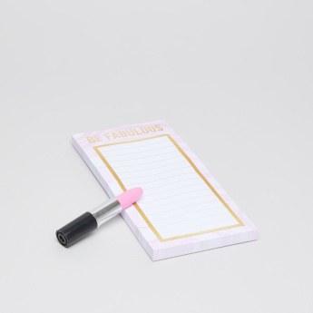 Punch Studio Single Ruled List Pad with Lipstick Pen