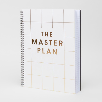 Syloon The Master Plan Printed A5 Single Ruled Spiral Notebook