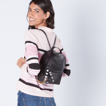Paparazzi Printed Keychain Backpack