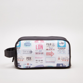 Tender Love & Carry Printed Cosmetic Pouch with Zip Closure