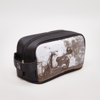 TL+C Printed Cosmetic Pouch with Zip Closure