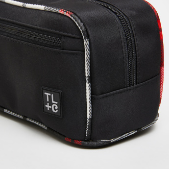 TL+C Beauty Bag with Piping Detail