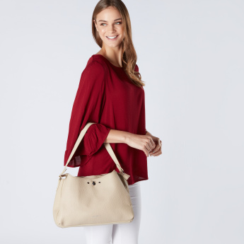 Fiorelli Textured Handbag with Twist Lock and Zip Closure