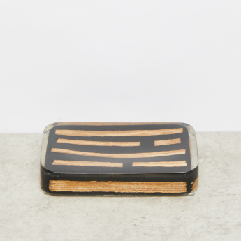 Wooden Flakes Rectangular Soap Dish