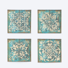 Printed Square Canvas - Set of 4