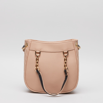 Charlotte Reid Embellished Crossbody Bag with Zip Detail