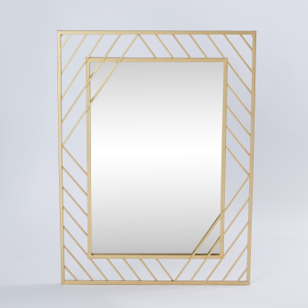Twisted Metallic Wall Mirror