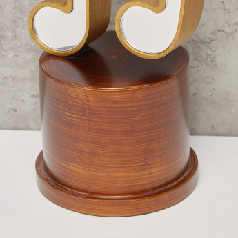 Music Note Shaped Showpiece