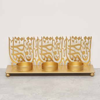 Multi Tealight Holder with Calligraphy Detail