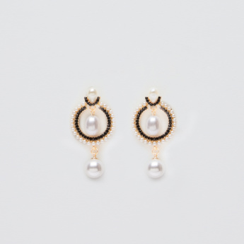 Sasha Studded Earrings with Pearl Detail