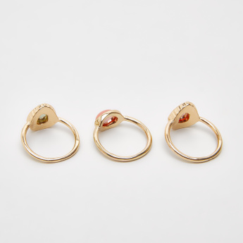 Sasha Metallic Finger Ring - Set of 3