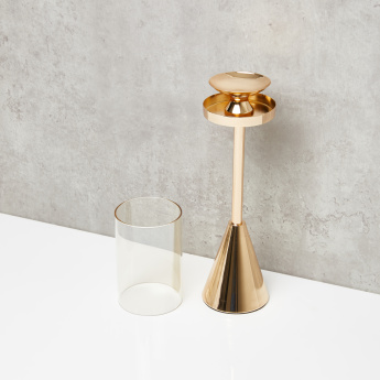 Decorative Candle Holder with Conical Base