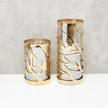 Cylindrical Candle Holder with Removable Decorative Cover