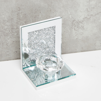 Glass Diamond Shaped Candle Holder