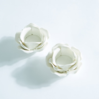 Flower Shaped Candle Holder - Set of 2