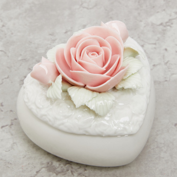 Rose Heart Shaped Trinket Box