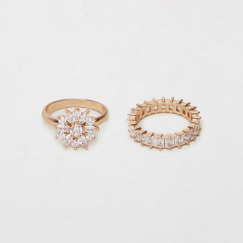 Sasha Studded Finger Ring - Set of 2