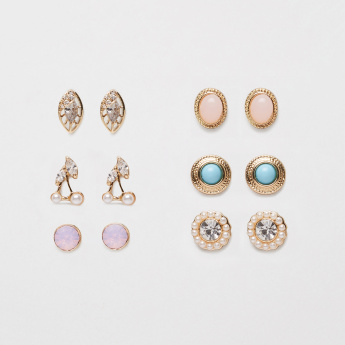 Sasha Studded Earrings - Set of 6