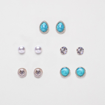 Sasha Assorted Earrings with Push Back Closure - Set of 5