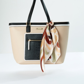 Charlotte Reid Shopper Bag with Scarf