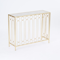Montage Metallic Console Table
