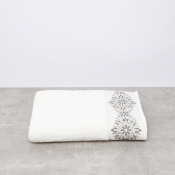 Plush Jacquard Bath Sheet - 90x150 cms