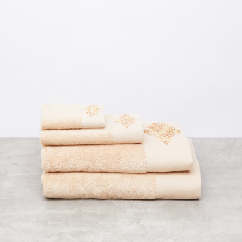 Embroidered and Textured Bath Towel - 70x140 cms