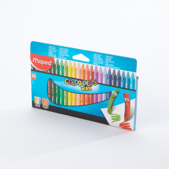 Maped 24-Piece Color'peps Wax Crayons