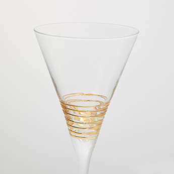 Circleware Gold Swirl Martini Glass - Set of 4