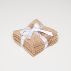 Textured 4-Piece Face Towel Set - 30x30 cms