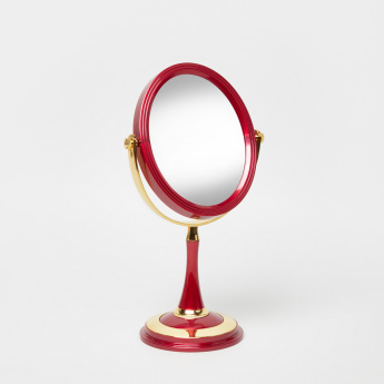 Dual Toned Cosmetic Table Mirror
