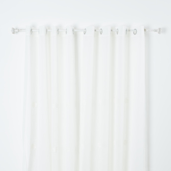 Daisy Sheer Curtain Pair with Eyelets - 140x260 cms