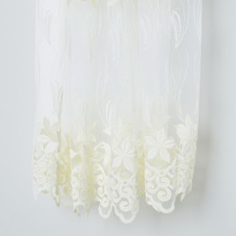 Amelia Sheer Curtain Pair with Eyelets - 130x260 cms