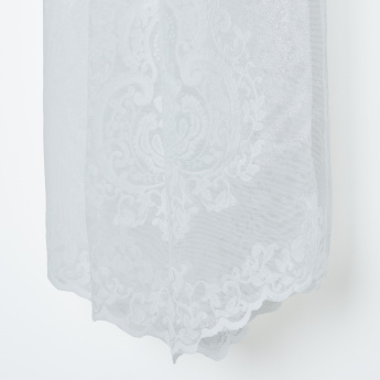 Joopi Sheer Lace Curtain Pair with Eyelets - 130x260 cms
