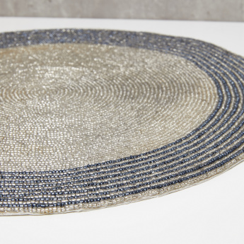 Zena Round Beaded Placemat