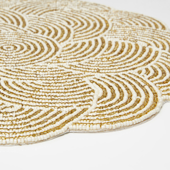 Lorena Beaded Round Placemat - 36 cms