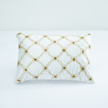 Alicia Embellished Rectangular Filled Cushion - 35x50 cms