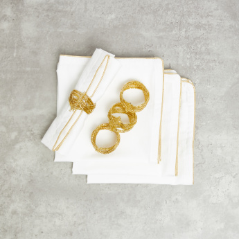 Embellished Napkin Rings - Set of 4