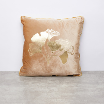 Melissa Foil Printed Cushion - 45x45 cms