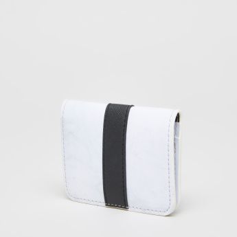 Applique Detail Card Wallet with Press Button Closure