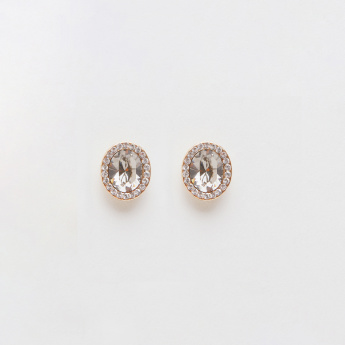 Sasha Studded Earrings with Push Back Closure