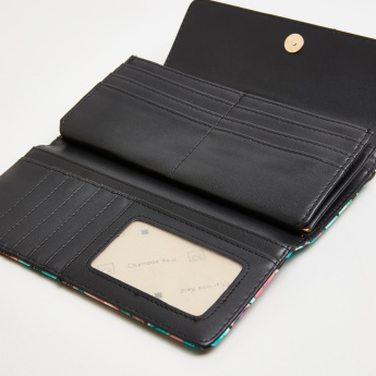 Charlotte Reid Printed Long Flap Wallet