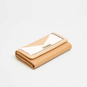Charlotte Reid Tri-Fold Wallet with Stitch Detail
