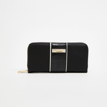 Charlotte Reid Long Zip Around Wallet with Crocodile Detail