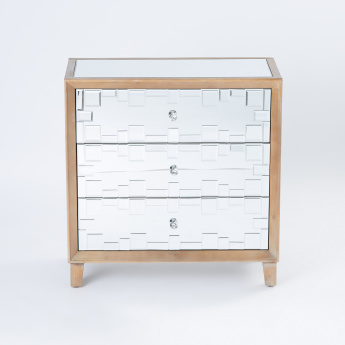 Mirrored 3 Drawer Chest Of Drawers Multicolour