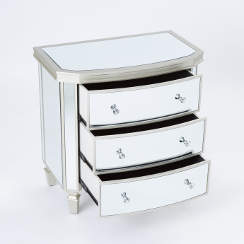 Mirrored 3-Drawer Chest of Drawers
