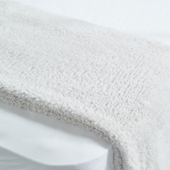 Sherpa Plain Plush Bed Throw - 200x150 cms