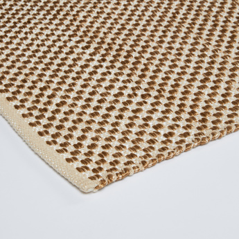 Textured Rectangular Rug - 120x76 cms